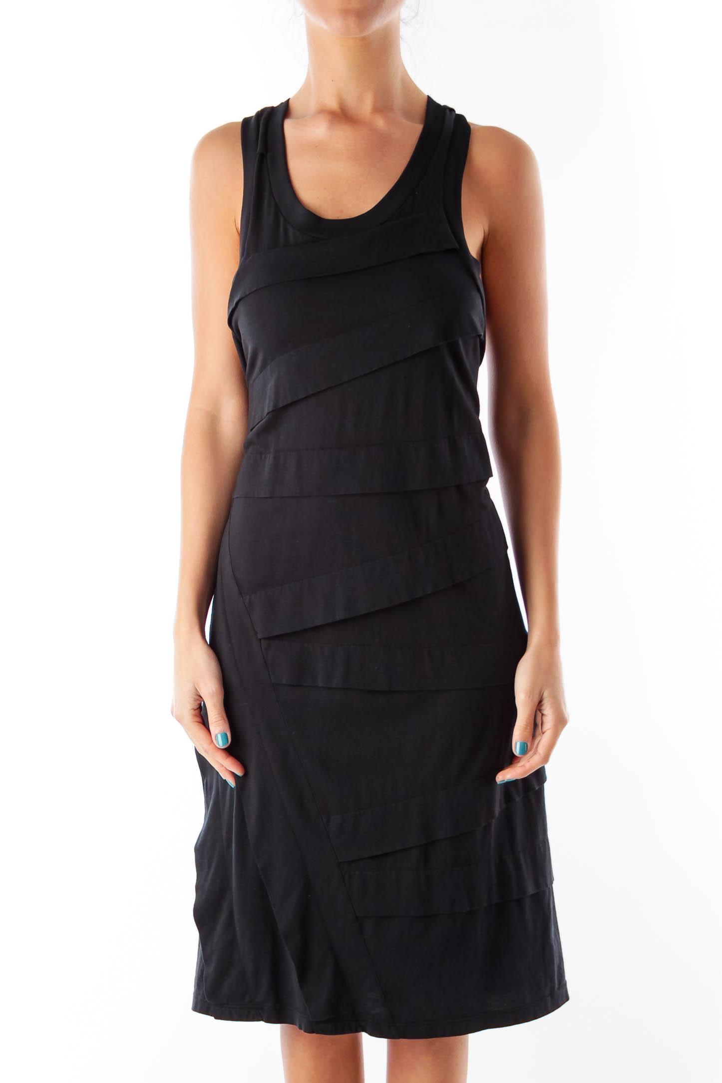 Black Layer Knee Length Dress