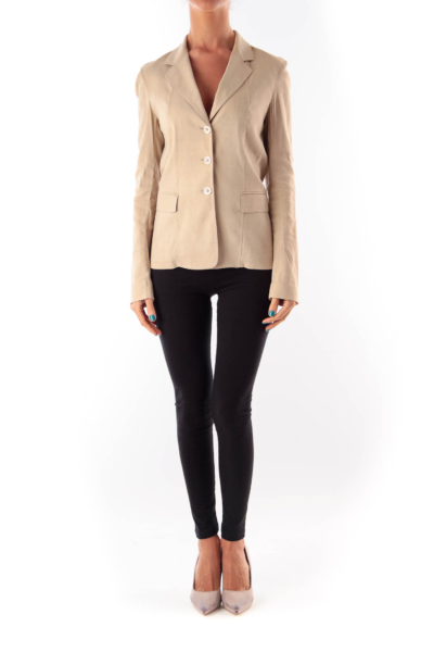 Beige Tailored Blazer