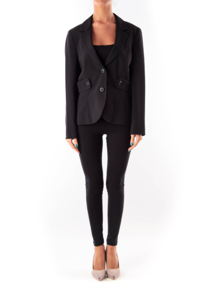 Black Side Detail Blazer