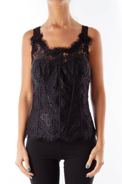 Black Lace Corset Top