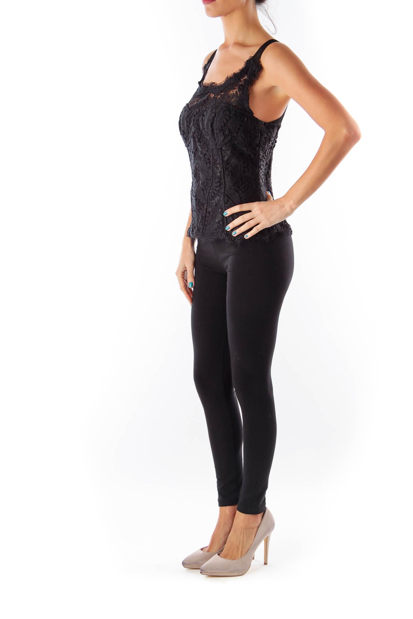 Black Lace Corset Top