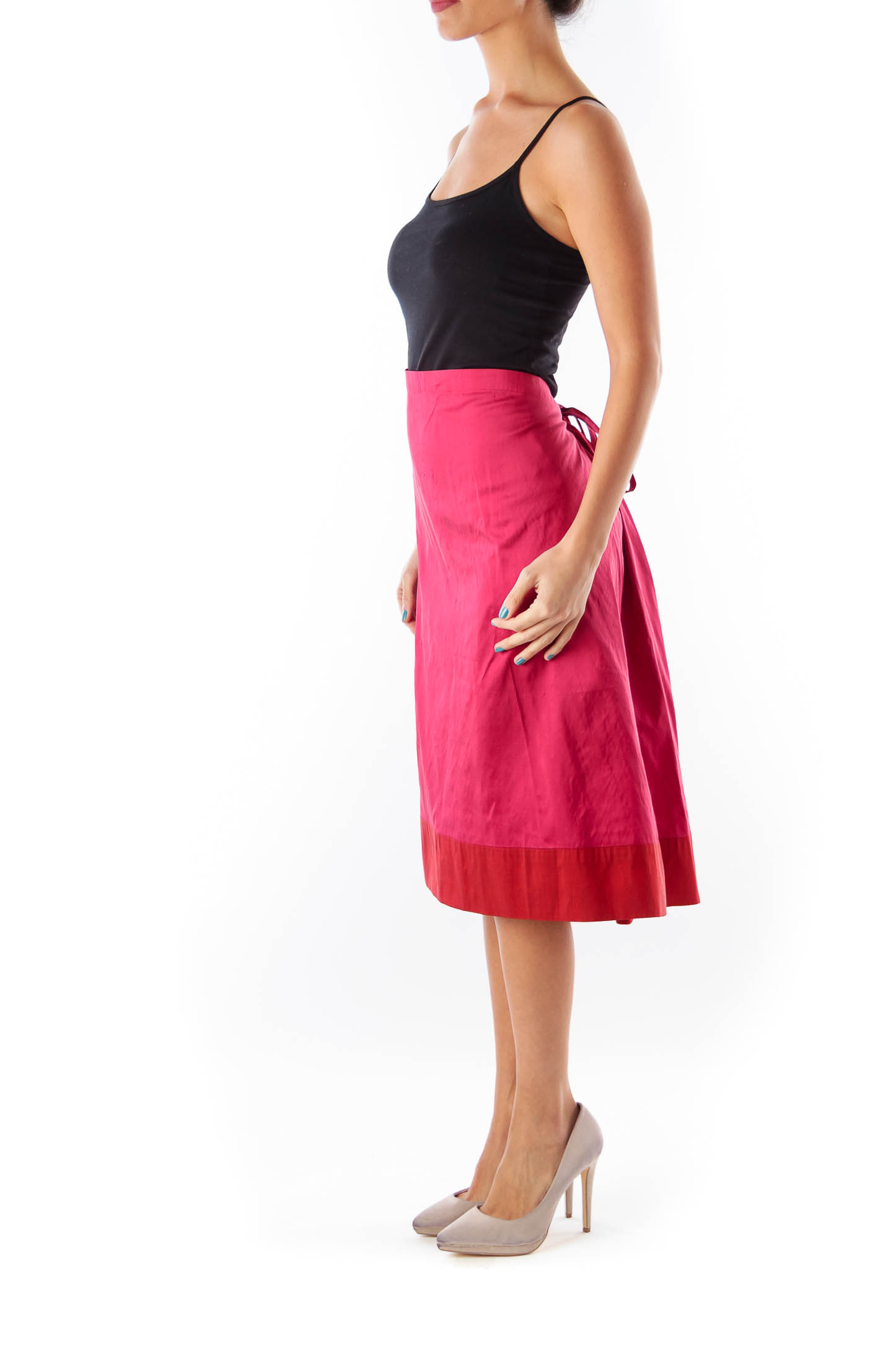 Cherry & Red Wrap Skirt