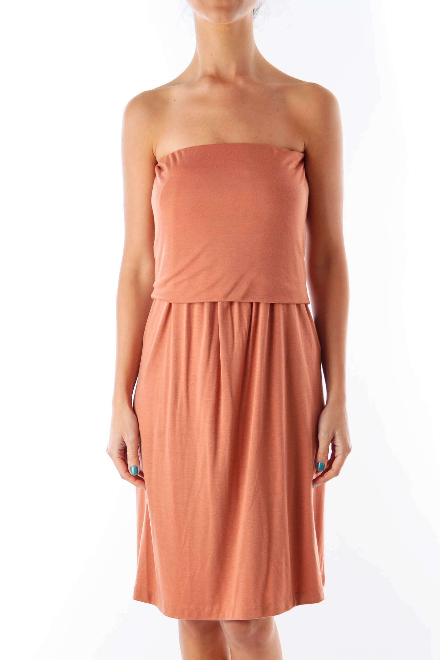 Shop Brown Strapless Mini Dress clothing and handbags at SilkRoll ... 2a830e665bac4