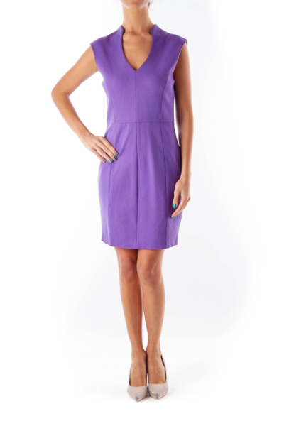 Purple Shift Mini Dress