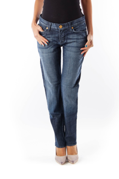 Blue Bottom Ziper Jeans