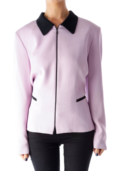 Lavender & Black Ziper Jacket