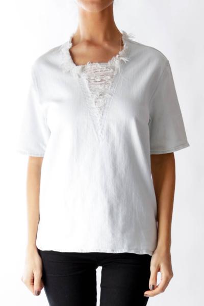 Light Blue Distressed Shirt