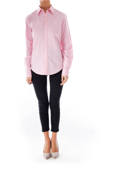 Pink Cotton Oxford Shirt