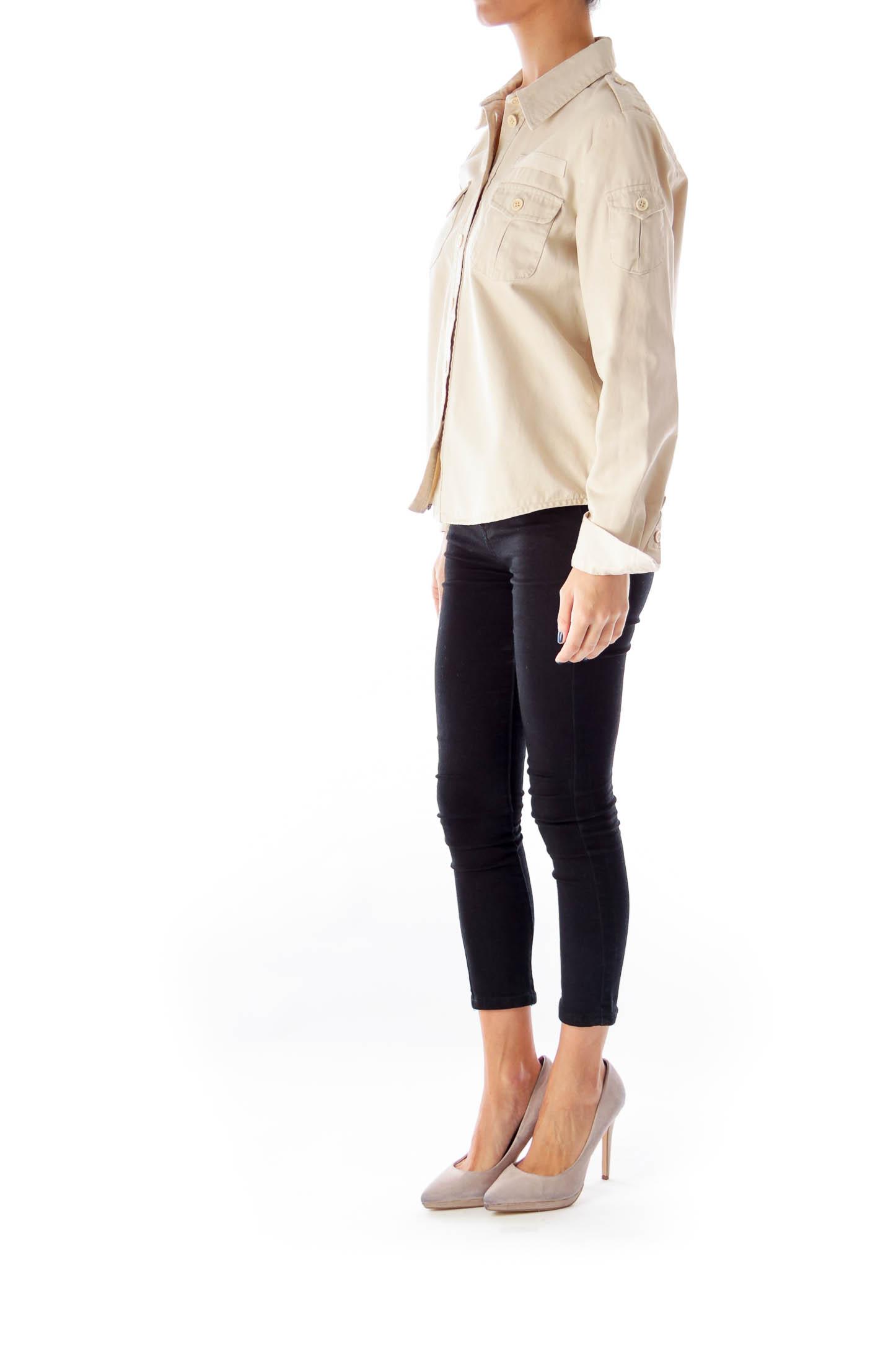 Taupe Front Pocket Jacket