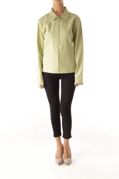 Green Front Ziper JAcket