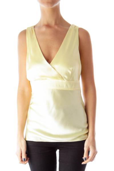 Yellow Silk Tank Top