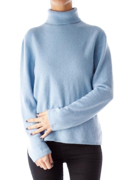 Blue Turtleneck Knit