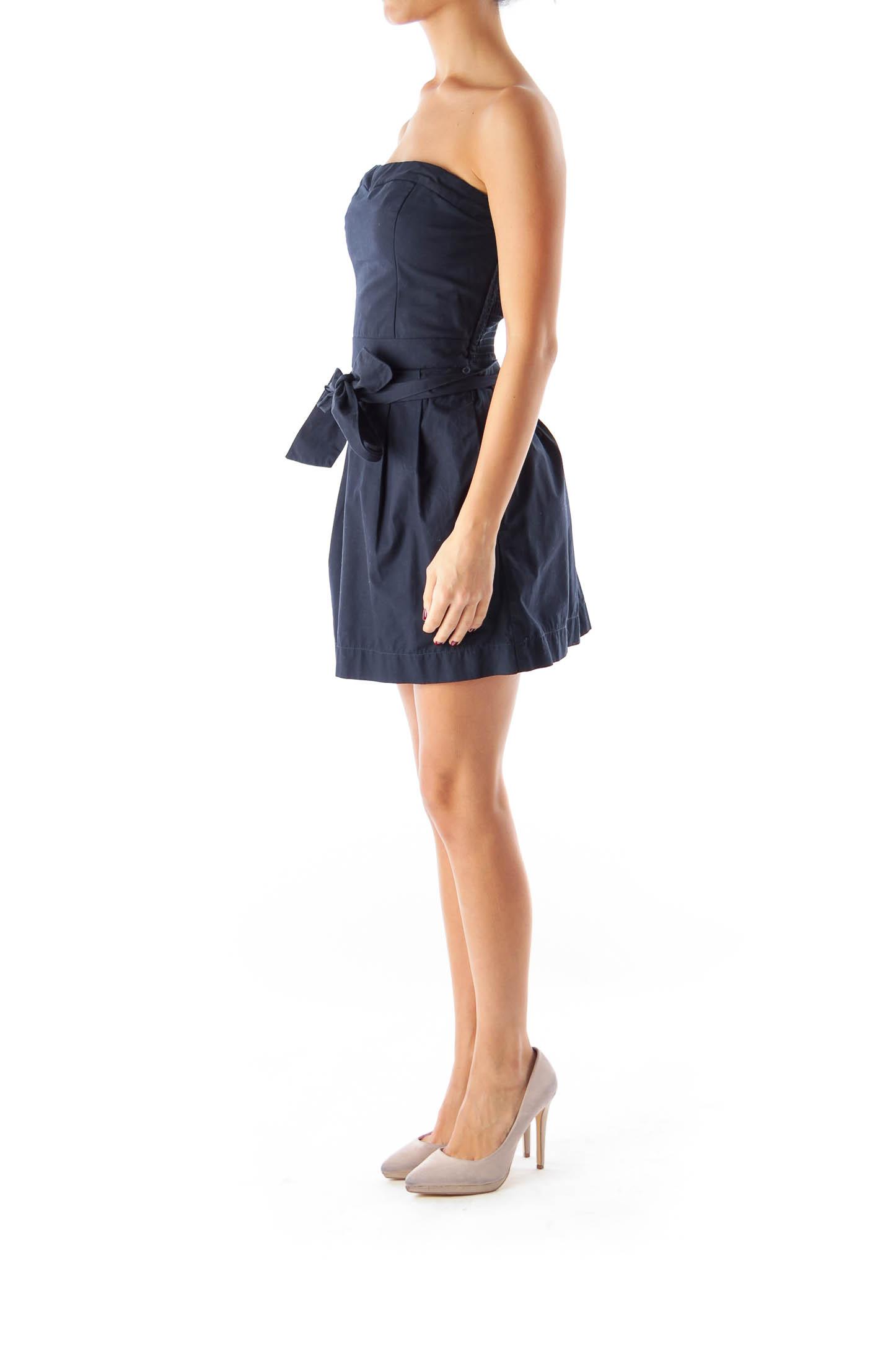 Navy Strapless Mini Dress