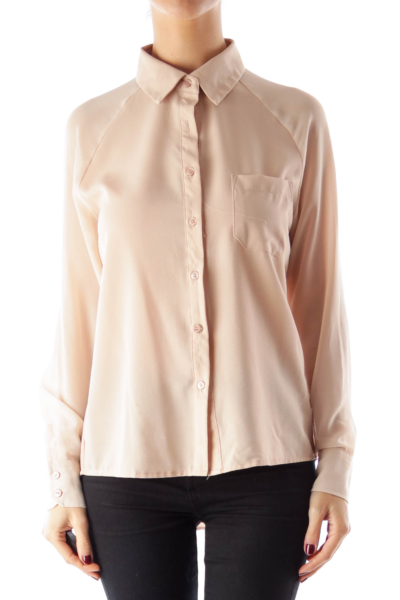 Dusty Pink Pocket Blouse