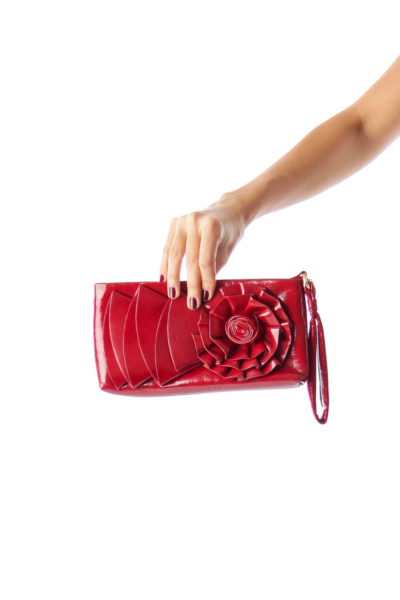 Red Flower Clutch