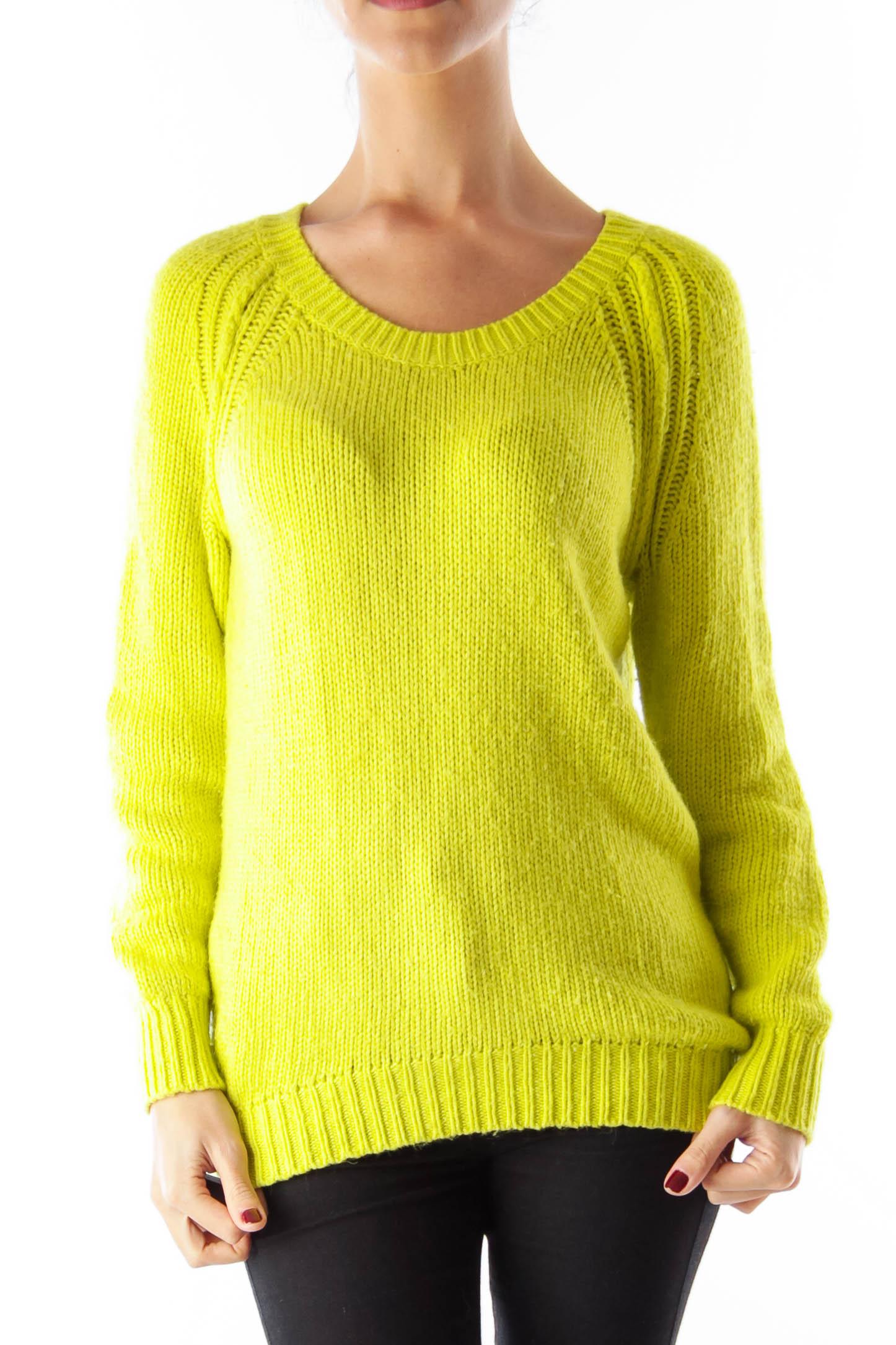 Lemon Green Sweater [S] - SilkRoll