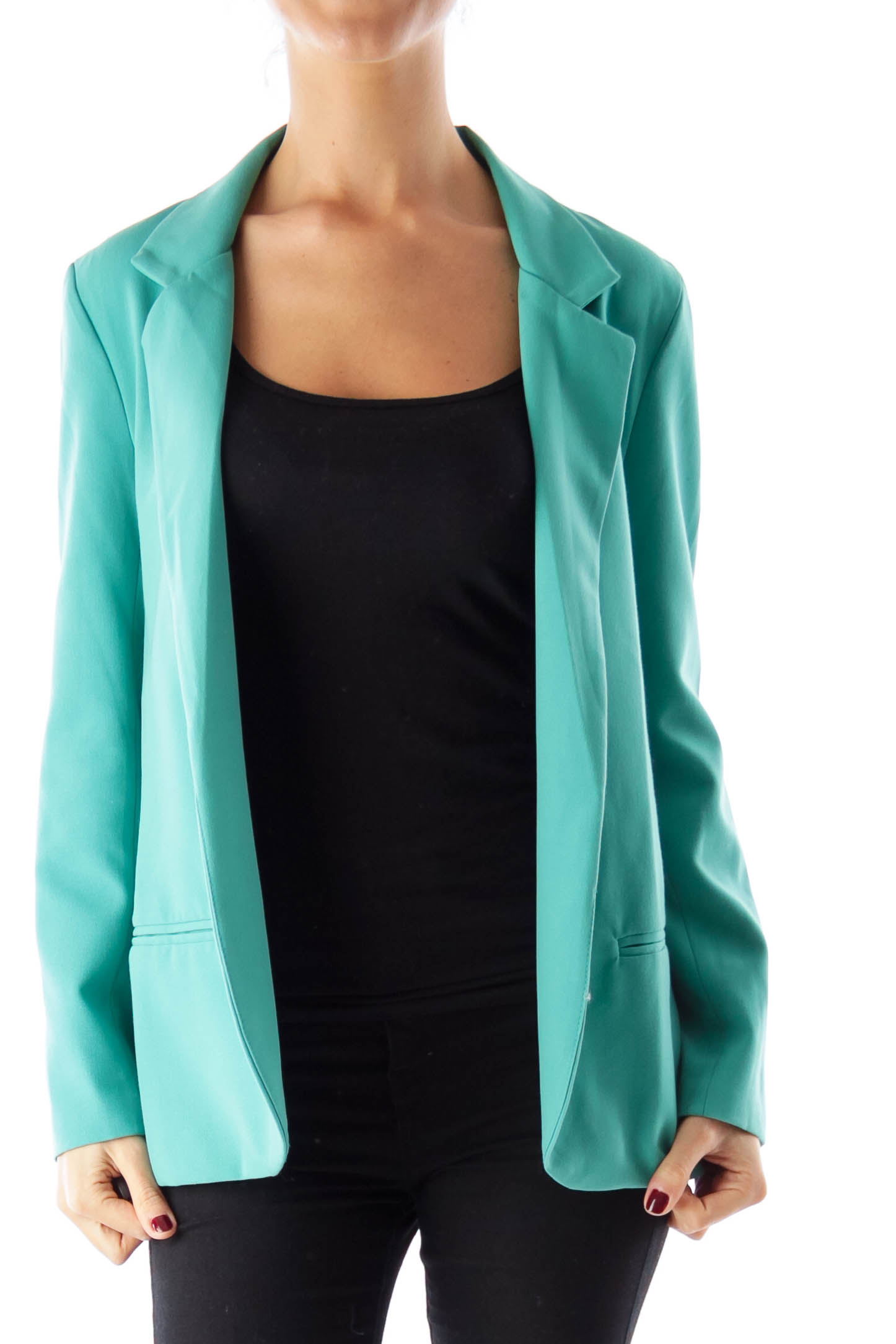 Green Long Blazer
