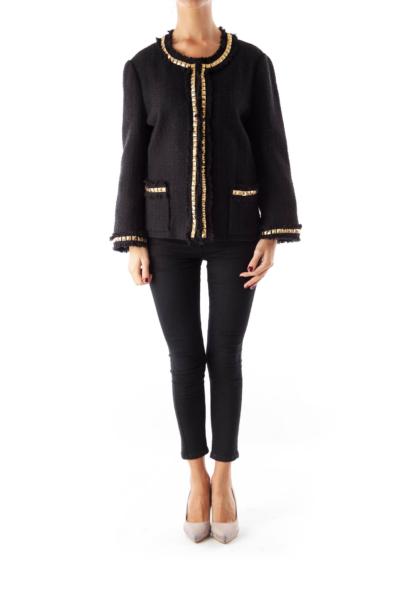 Black Gold Studded Jacket
