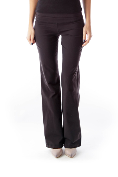 Black Straight Leg Yoga Pant