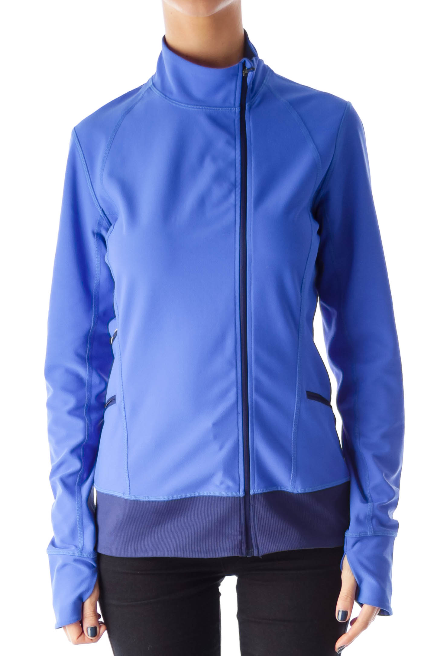 Blue Zip Up Shell Jacket