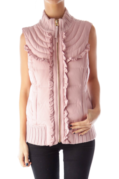 Pink Down Vest