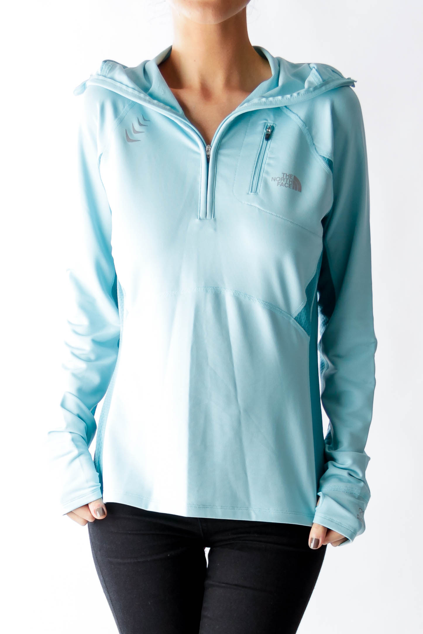 Baby Blue Light Weight Hoodie