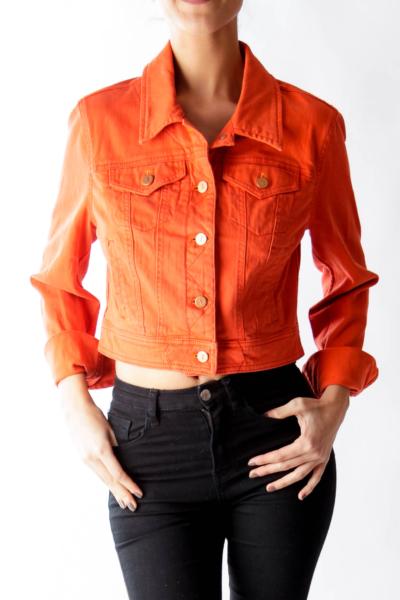 Orange Crop Denim Jacket