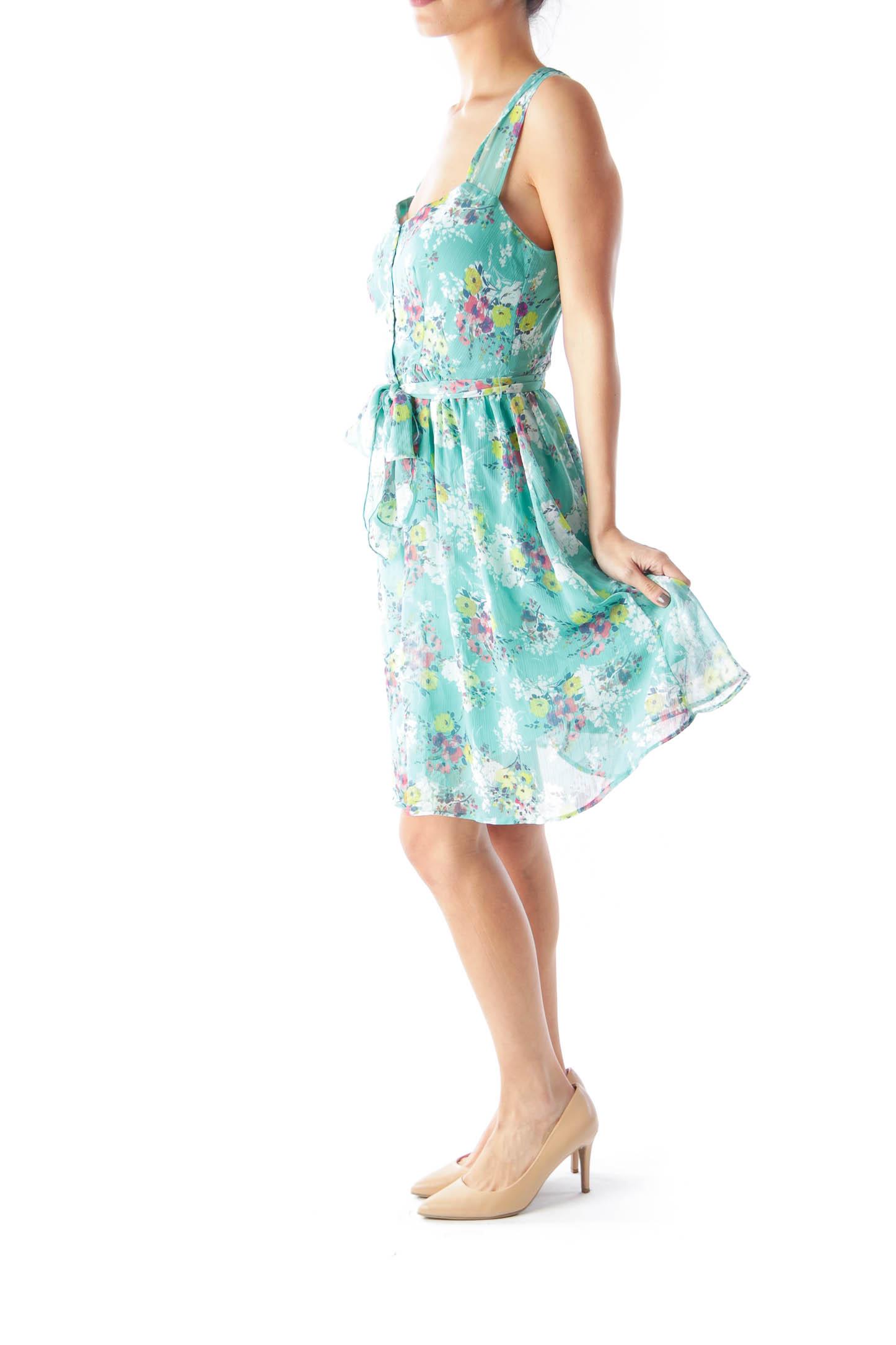 Green Floral Summer Dress