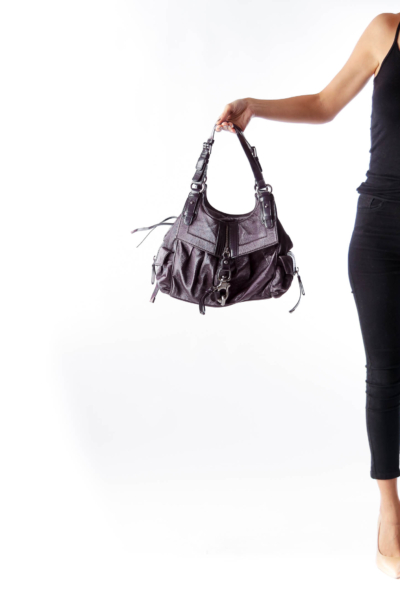 Dark Purple Side Pocket Bag