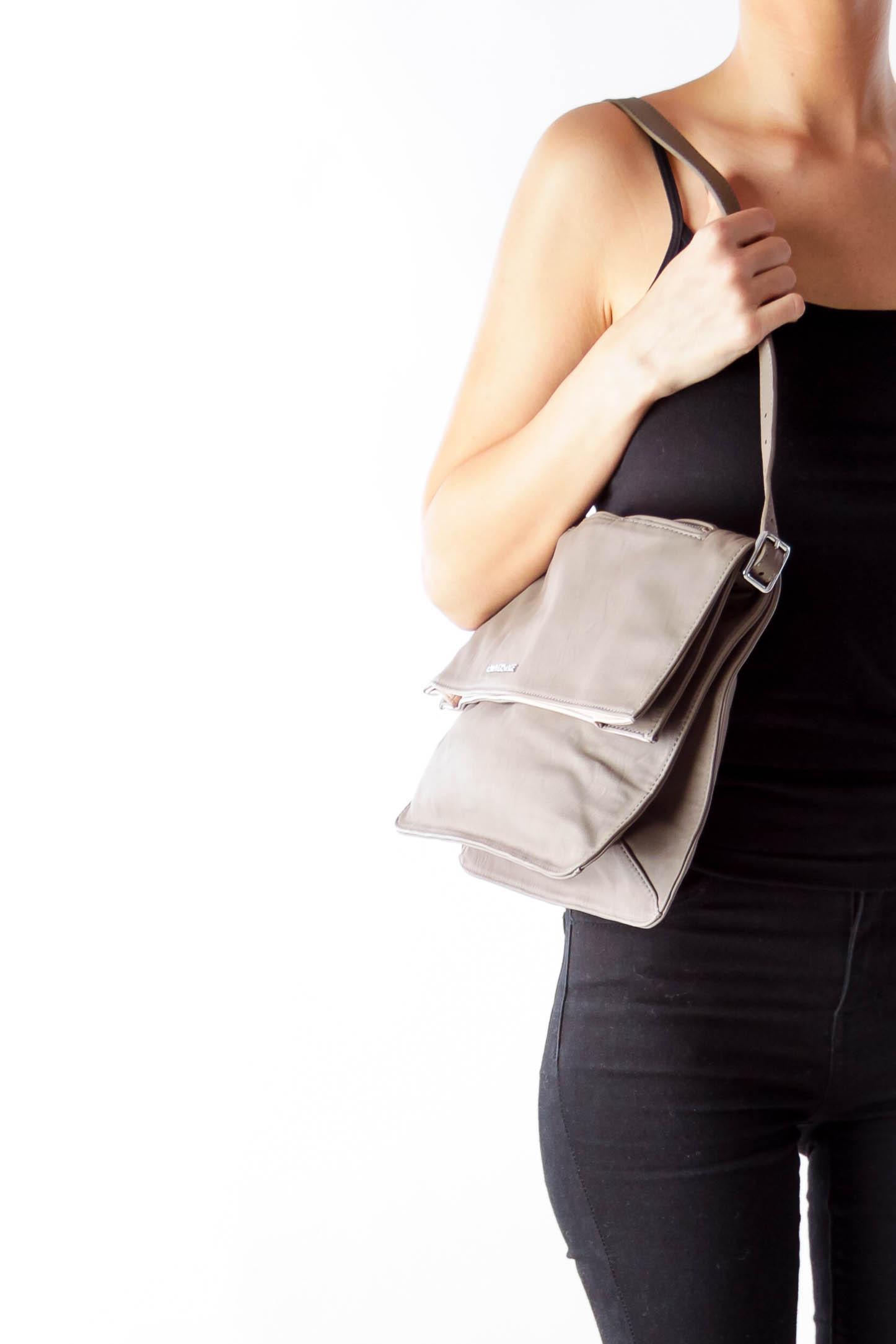 Taupe Envelope Handbag