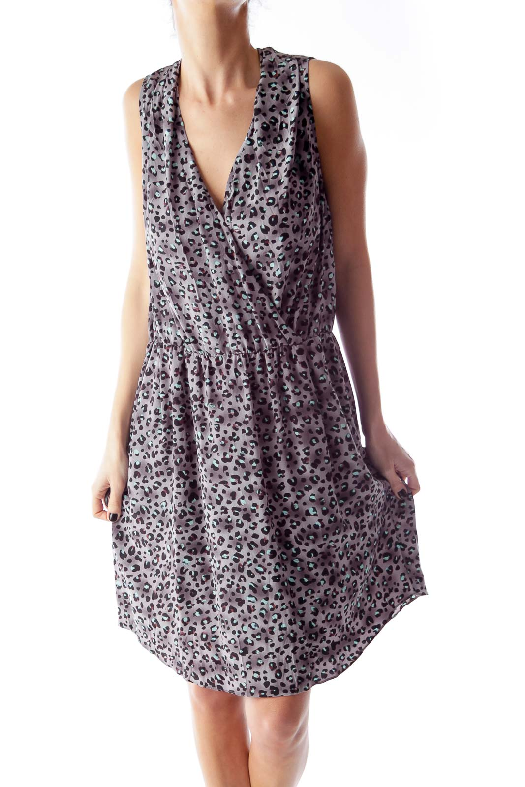 Gray Animal Print Dress