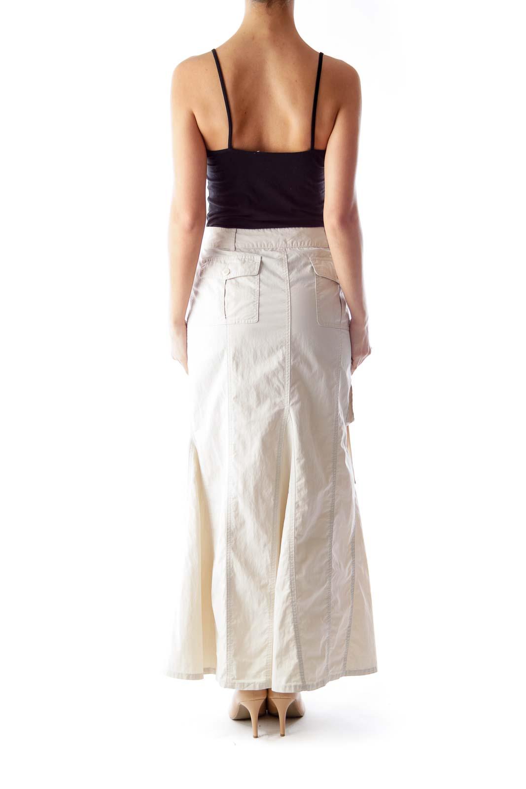 khaki maxi skirt 4 silkroll