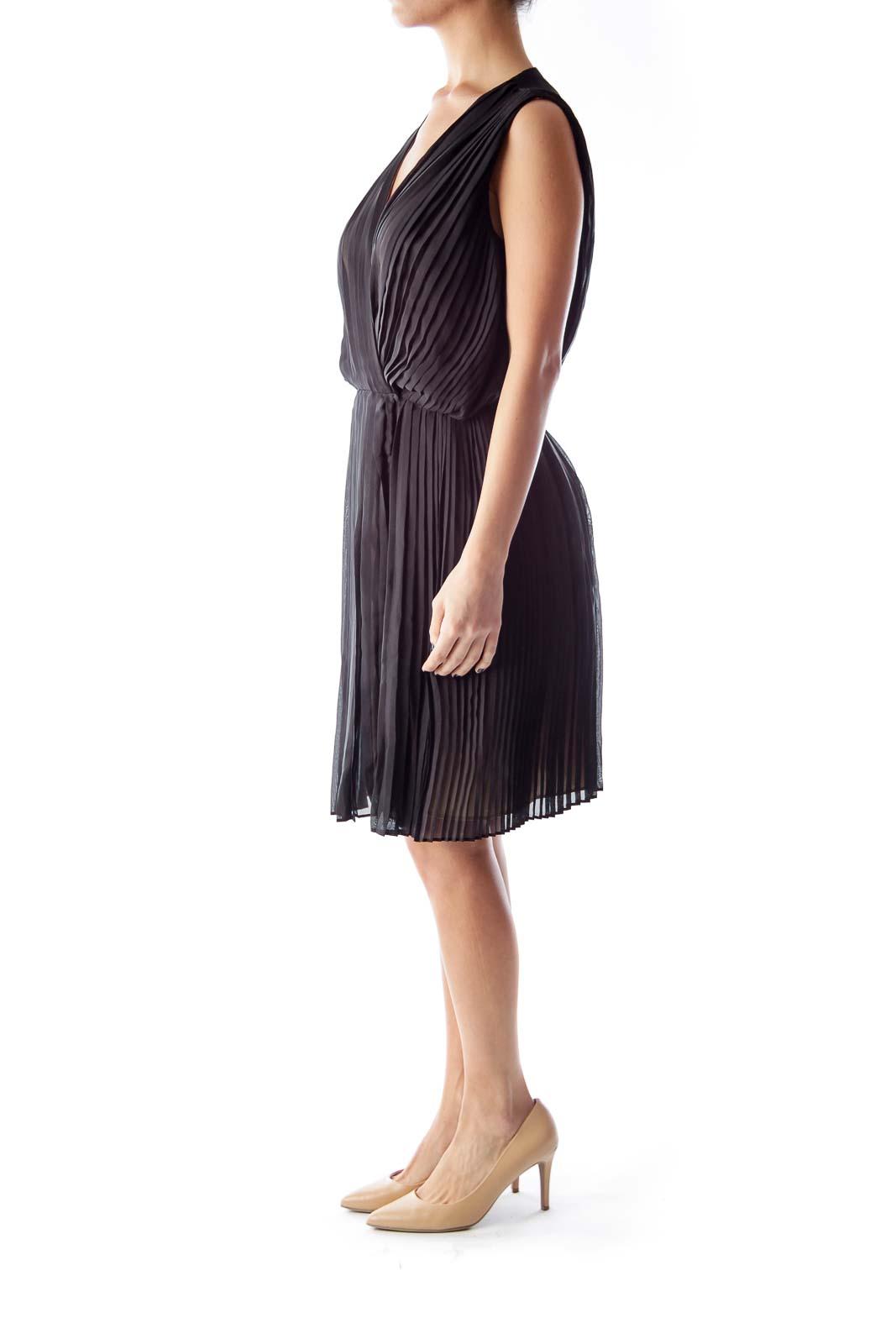 Black Plaid Cocktail Dress