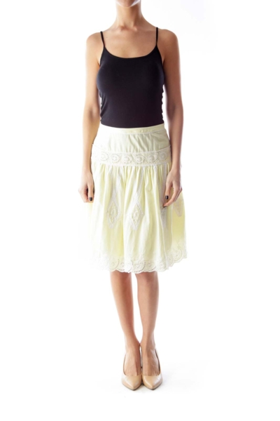 Yellow Lace Skirt
