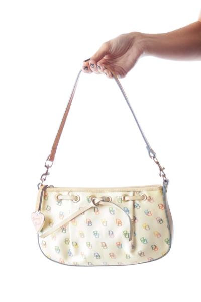 Beige Monogram Shoulder Bag