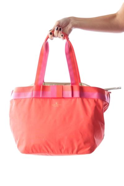 Orange & Pink Diaper Bag