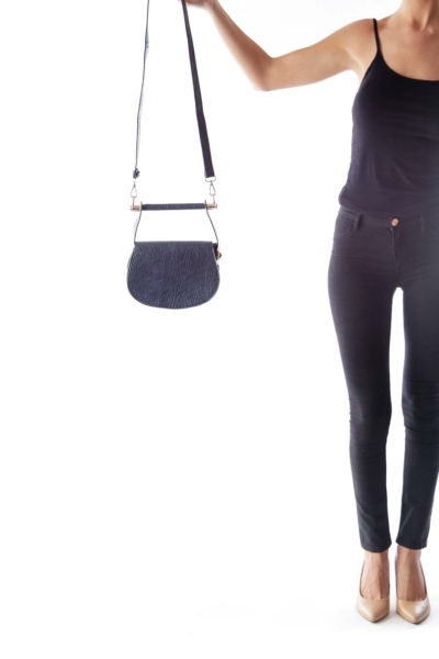 Navy Saddle Crossbody Bag