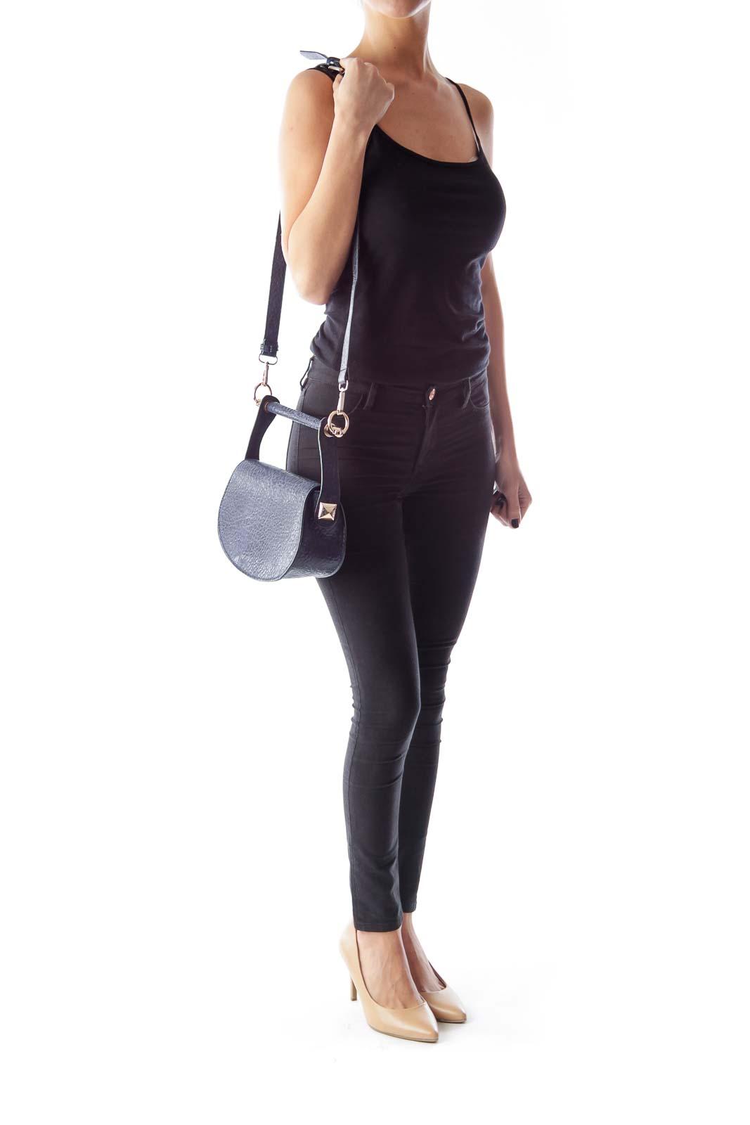 Navy Saddle Crossbody Bag