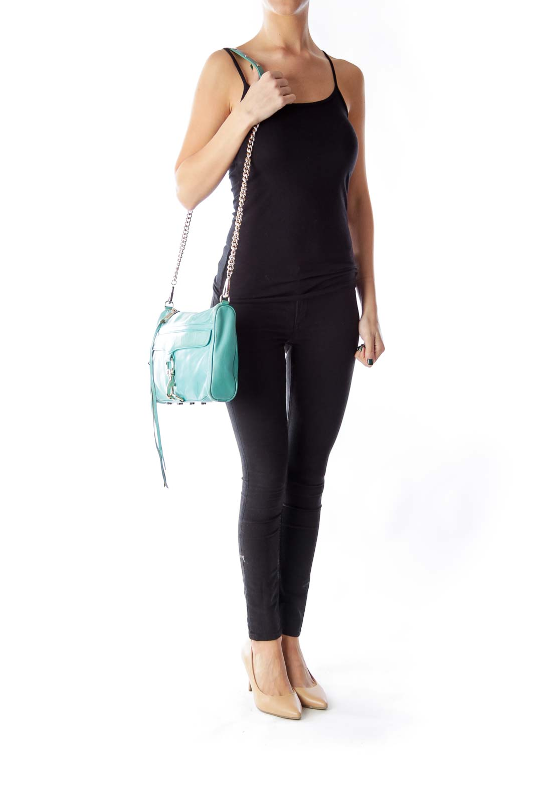 Green Chain Crossbody Bag