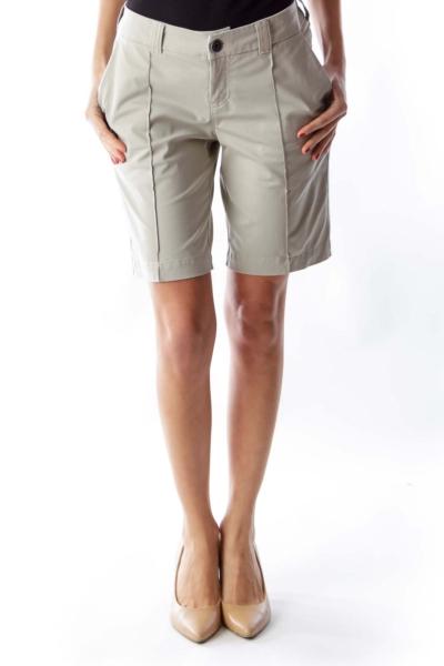 Beige Long Shorts