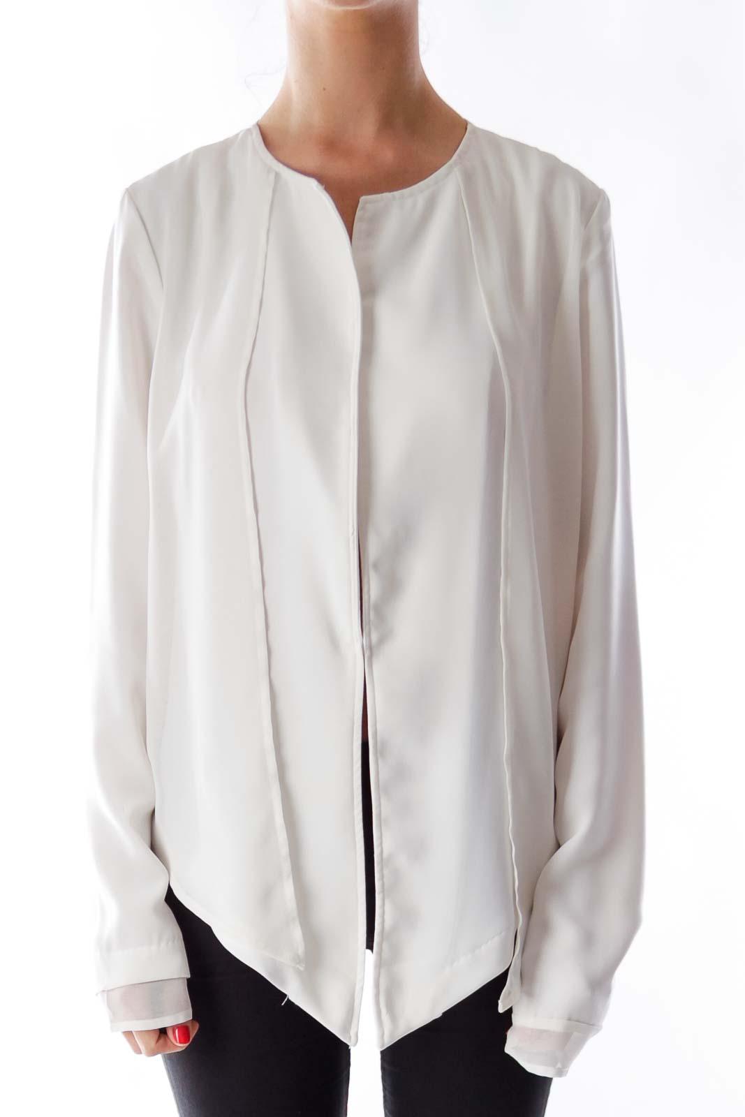 Cream Open Layer Jacket