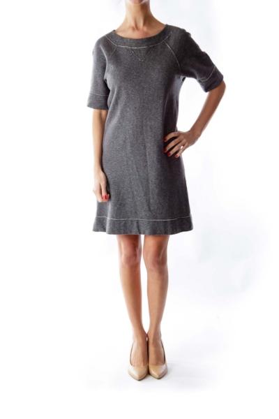Gray Sweatshirt Dress