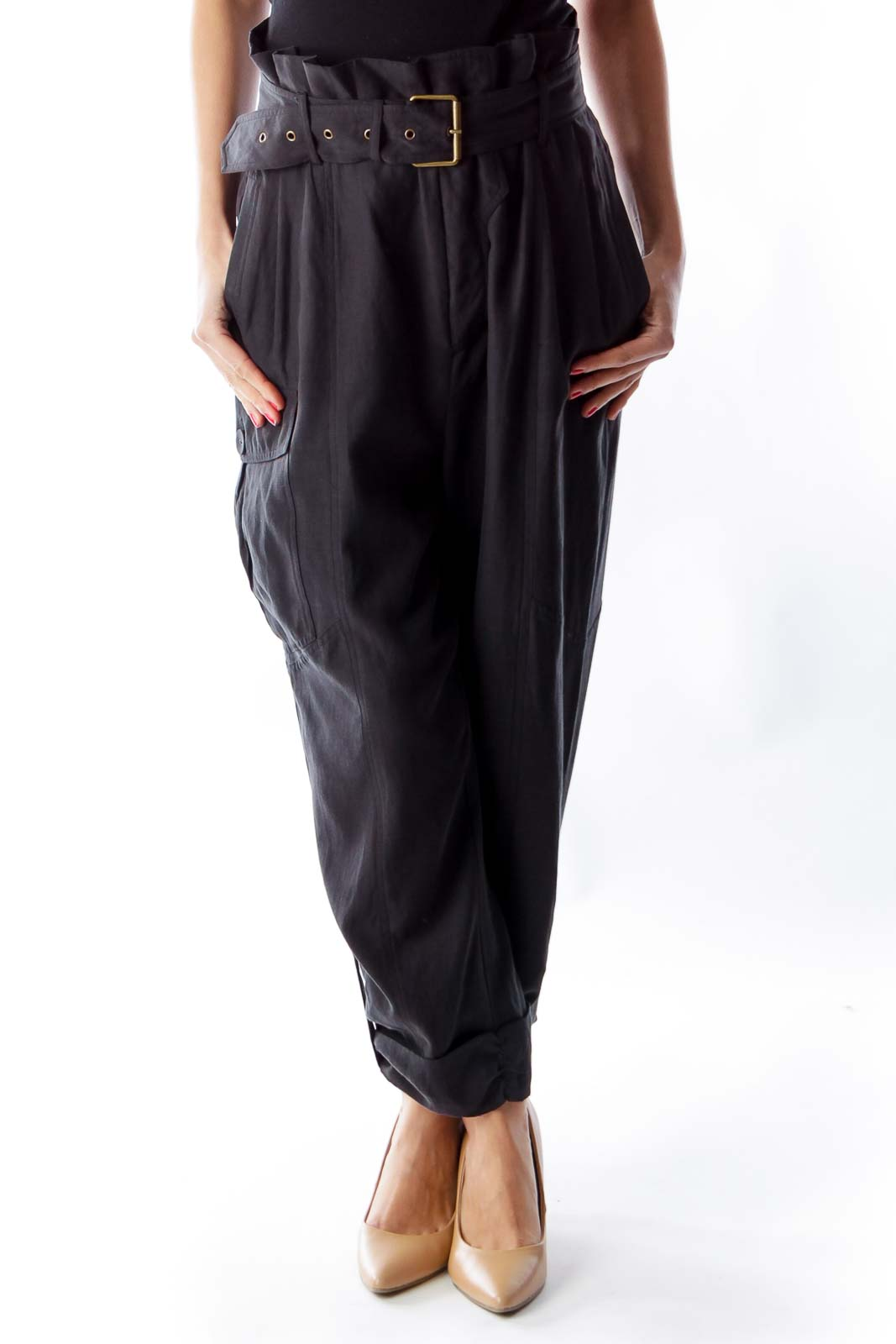 Black Silk Pants [S] - SilkRoll