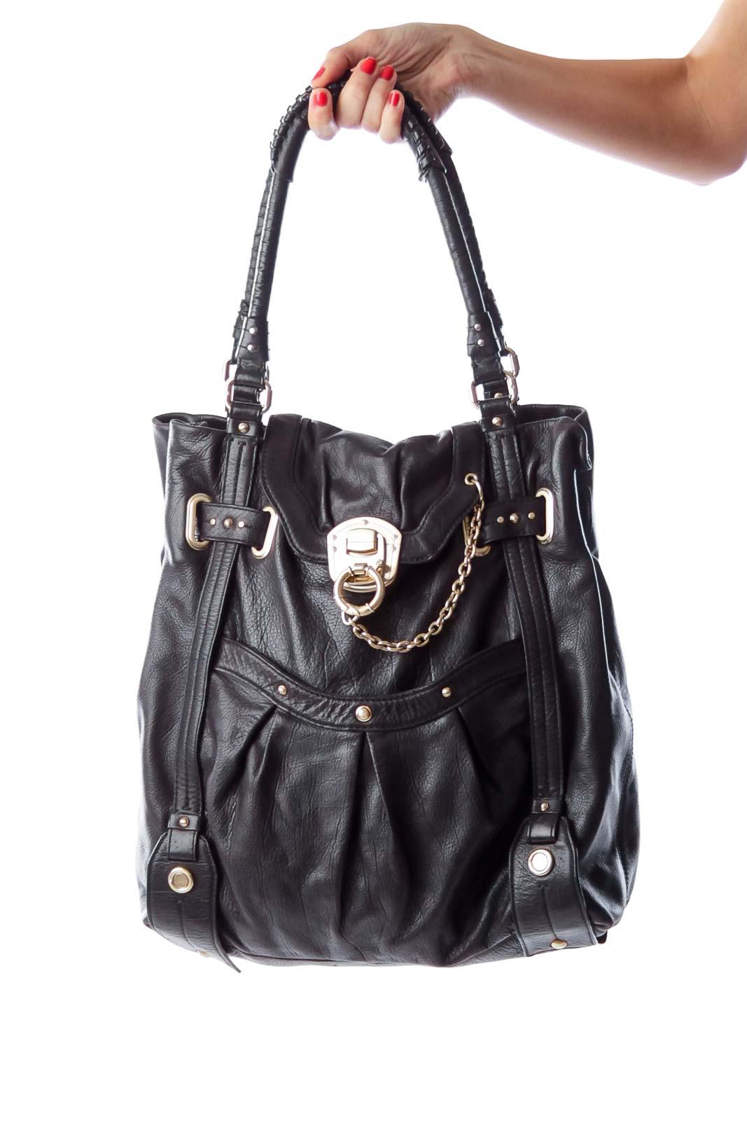 Black Metal Detail Bag