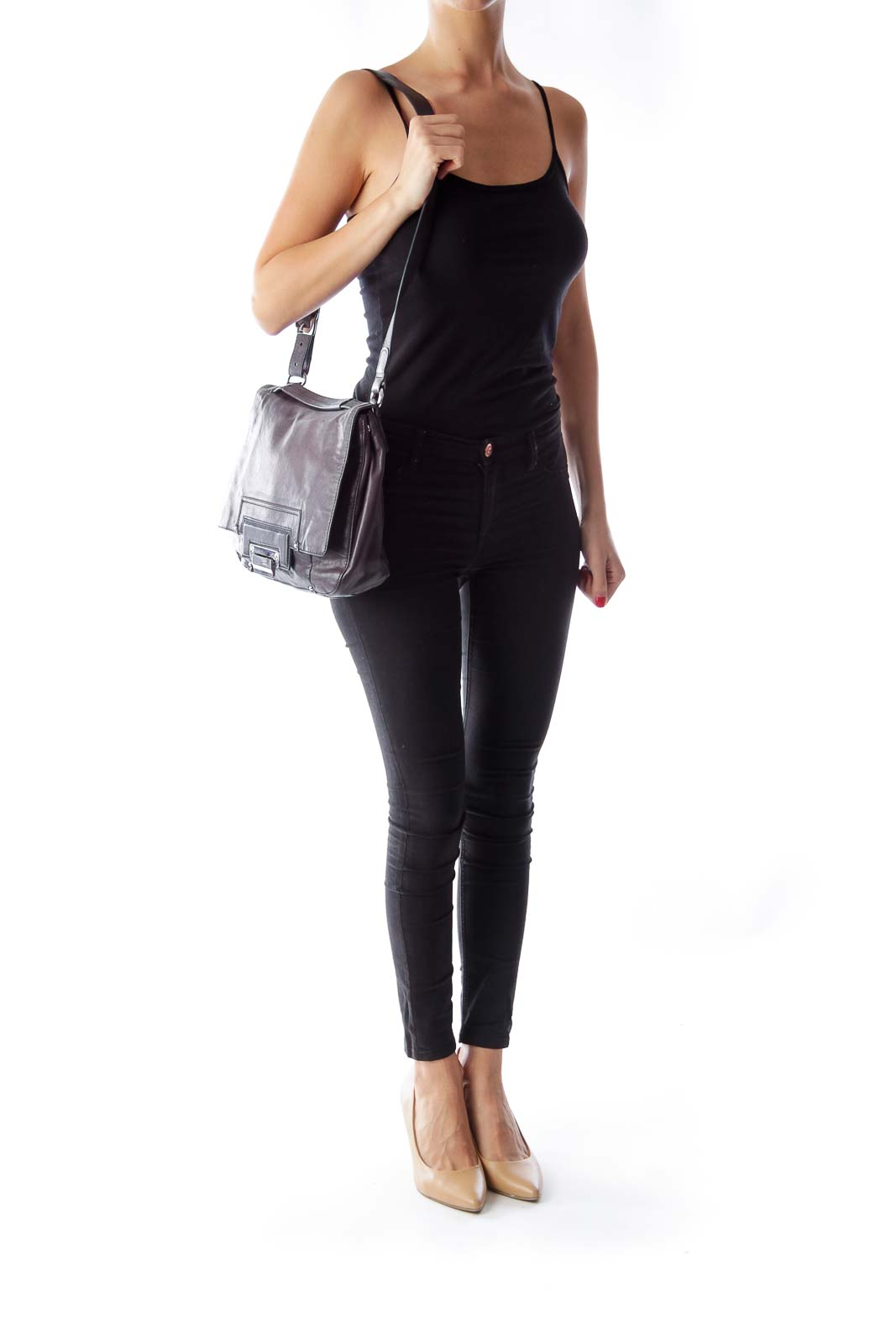 Dark Gray Crossbody Bag