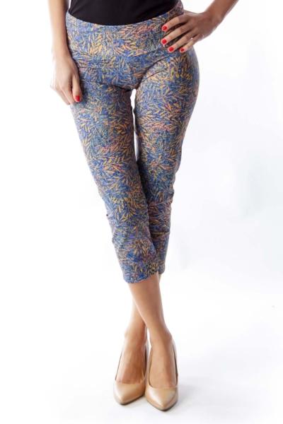Print Capri Yoga Pants