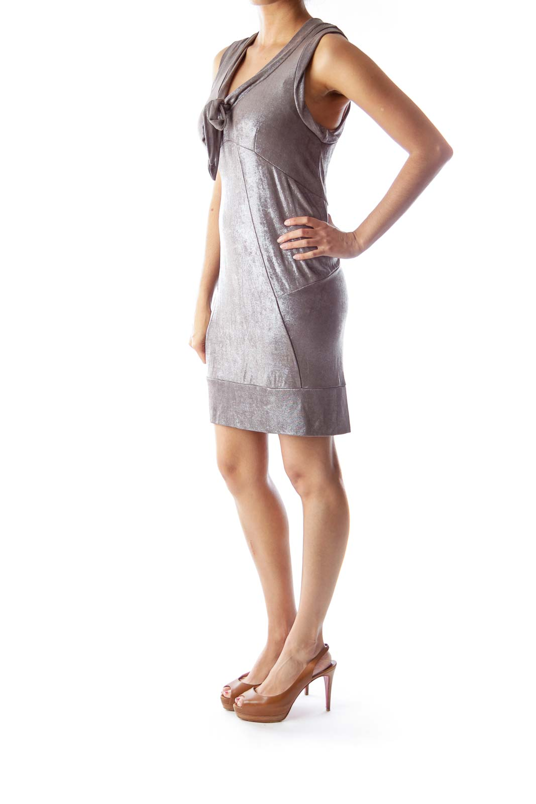 Brown Lurex Dress