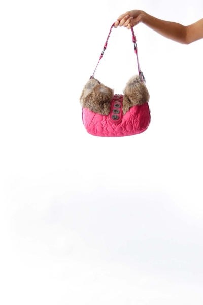 Pink Fur Bag