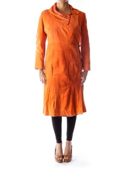 Orange Vintage Suede Coat