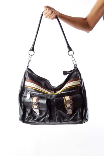 Black Leather Large Bag
